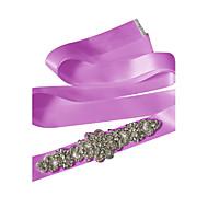 Satin Wedding / Party/ Evening / Dailywear Sash - Sequins / Beading / Crystal / Rhinestone Women's Sashes
