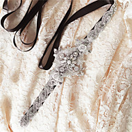 Satin Mariage / Fête/Soirée / Quotidien Ceinture-Paillettes / Billes / Perles / Cristal / Strass Femme 250cmPaillettes / Billes / Perles