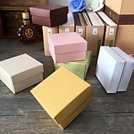 Geschenk Schachteln ( Elfenbeinweiß / Gold / Schokolade / Grün / Rosa / Weiß , Perlenpapier ) - Nicht personalisiert -Hochzeit /