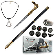 Assassin's Creed Syndicate Cane Sword Cosplay Accessories (+Alloy Ring Badge Necklace Key Buckle 13Pcs Set)