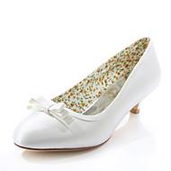 Women's Spring / Summer / Fall Heels / Round Toe Silk Wedding / Party & Evening / Dress Low Heel Satin FlowerBlack / Pink / Purple / Red