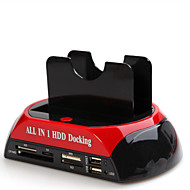 allemaal in een usb2.0 tot 2,5 / 3,5 dual SATA HDD docking station gl02