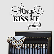 Sweet Lovely Wall Stickers Wall Decals, Creative English Words & Quotes PVC Wall Stickers