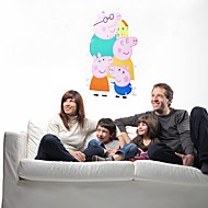 Wall Stickers Wall Decals, Style children Pink Pig Cartoon PVC Removable Wall Stickers