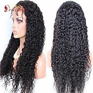"2015 Hot selling In stock Pretty Afro kinky curl Glueless Cap 10""-32"" Brazilian human hair Wig"