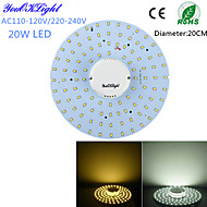 YouOKLight® 20W 1800Lm  100-2835SMD Warm White Light / White Light LED Ceiling Light(AC110-120V/220-240V)