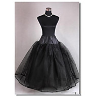 Slips A-Line Slip Ball Gown Slip Chapel Train Floor-length 3 Tulle Netting Black