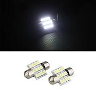 белый 31мм купол 12 водить 3528 SMD интерьер автомобиля лампа свет лампы (2 шт)