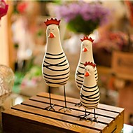 The Nordic Log The Chicken Family 3 Sets Painted Crafts Manual Sculpture Home Furnishing Articles Birthday'S Day Gift