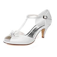 Dámské - Svatební obuv - S otevřenou špičkou - Sandály - Svatba / Šaty / Party - Bílá