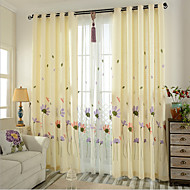 Dvije zavjese Prozor Liječenje Neoclassical Bedroom Mješavina poliester/lan Materijal Zavjese Zavjese Početna Dekoracija For Prozor