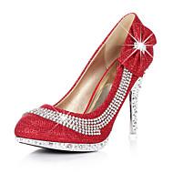 נעלי נשים - בלרינה\עקבים - סינטתי - עקבים - אדום / זהב - חתונה / שמלה / מסיבה וערב - עקב סטילטו
