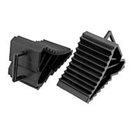 2 pcs veículo antislip rodas pneu de carro bloco de parada calce preto