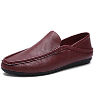 Men's Shoes Office & Career / Casual Leather Loafers Black / Blue / Gray / Orange / Burgundy