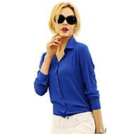 Overhemdkraag-Polyester / ChiffonVrouwen-Overhemd-Lange mouw