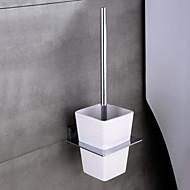"""HPB®,Suporte para Escova de Banheiro Cromado De Parede 11.5*12.4*4cm(4.5""""*4.9"""") Latão / Cerâmica Contemporâneo"""