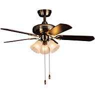 MAISHANG® Retro Bar Iron Ceiling Fans 3 Light For Kitchen