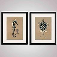 Αφηρημένο / Τοπίο / Νεκρή Φύση Εκτύπωση Τέχνης σε Κορνίζα / Καμβάς σε Κορνίζα / Σετ σε Κορνίζα Wall Art,PVC ΜαύροΠεριλαμβάνεται Χάρτινο