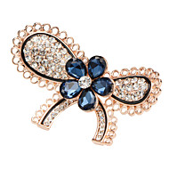 Hot New Fashion Jewelry Broochs Lovely Butterfly Crystal Pins Wedding Brooch for Women Jewelry Good Gift X30010