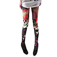 Crânio de Mulheres Imprimir Leggings Elastic