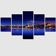 Print Art Painting On Canvas Unframed 5 Piece Large HD The Night Sky For Living Room Wall Picture Decoration Home