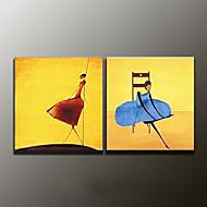 Handgeschilderde AbstractModern Twee panelen Canvas Hang-geschilderd olieverfschilderij For Huisdecoratie