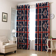 Two Panels Union Jack Blackout Printing Curtain