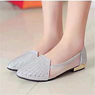 Plochá podrážka-Koženka-Pohodlné-Dámská obuv-Růžová / Stříbrná / Zlatá-Outdoor / Běžné-Plochá podrážka