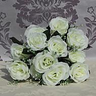 korkealaatuinen 9 päät ruusut kukkia silkki kukka silkki kukka kukkien sisustuksessa 1kpl / setti