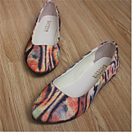 Women's Shoes Flat Heel Round Toe Flats Dress / Casual Red / Gray / Orange