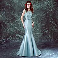 Formal Evening Dress - Jade Trumpet/Mermaid Scoop Sweep/Brush Train Satin / Taffeta