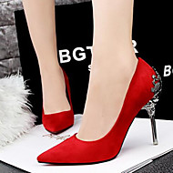 Women's Shoes Suede Pump Sexy Fashion Engraving Stiletto Heel Comfort / Pointed Toe Heels Party & Evening / Dress