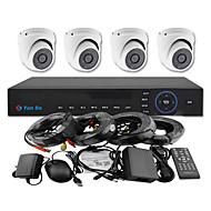 yanse® 4ch 960H CCTV DVR-Kit IR-Farb-Dome-Kamera wasserdichte Überwachungskameras System 1000tvl 711cf04