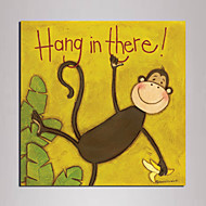 Mini Size Cartoon monkey Painting Canvas Print One Panel Ready to Hang