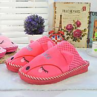 Chaussures Femme-Décontracté-Multi-couleur-Talon Plat-Bout Fermé / Chaussons-Chaussons-Coton