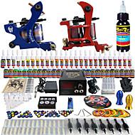 solong tatovering nybegynner tatovering kit 2 pro maskiner 40 blekk strømforsyning nål grep tips tkb13