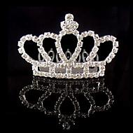 Mujer Diamantes Sintéticos / Cristal / Aleación Celada-Boda / Ocasión especial Tiaras 1 Pieza Marfil Redondo