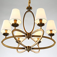 5 Rustic/Lodge / Vintage Mini Style Electroplated Metal Chandeliers Living Room / Bedroom / Dining Room / Kids Room