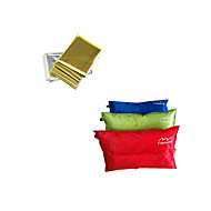 Outdoor Survival Blanket Automatic Inflatable Pillow Case Pack - Random color