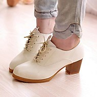 Women's Shoes Libo 2016 New Style Chunky Heel Comfort Oxfords Office & Career / Casual Black / Brown / White / Beige