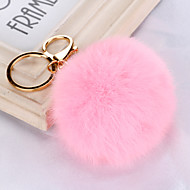 Fashion Cony Hair Candy Color Key Chains