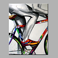 Oil Painting Modern Abstract  Pure Hand Draw Ready To Hang Decorative Ride A Bike Oil Painting