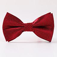 Hrášek - Motýlek (Červená , Polyester)
