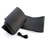 ziqiao universelle Anti-Rutsch-atmungsaktive PU-Leder DIY Auto-Auto-Lenkrad-Abdeckungsfall mit Nadeln (37 ~ 38cm)