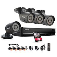 annke 8ch 960h CCTV-system vattentät videokamera 900tvl hemsäkerhet kameraövervakning kit 1tb hdd