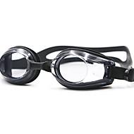 Óculos de Natação Anti-Nevoeiro Prova-de-Água Gel Silica PC Preto Azul Branco Preto Azul Vermelho