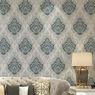 PALUTON Art Deco Wallpaper Contemporary Wall Covering , Non-woven Paper 3D Embossed Wallpaper Damascus
