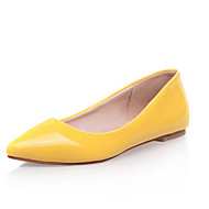 Women's Shoes Patent Leather Flat Heel Pointed Toe Flats Casual Black / Blue / Yellow / Green / Red / Almond