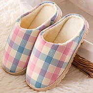 Chaussures Femme-Décontracté-Multi-couleur-Talon Plat-Bout Arrondi / Chaussons-Chaussons-Coton