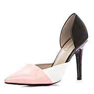 Women's Shoes Patent Stiletto Heel Heels / Pointed Toe Heels Casual Black / Pink